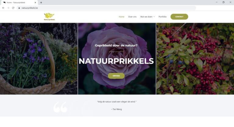 Natuurprikkels Website laten maken