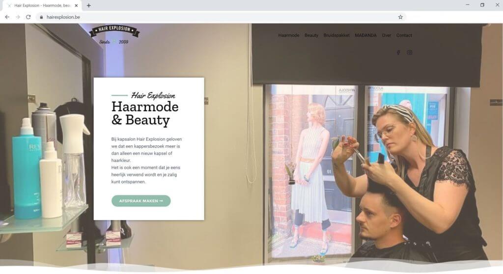 Hair Explosion website laten maken