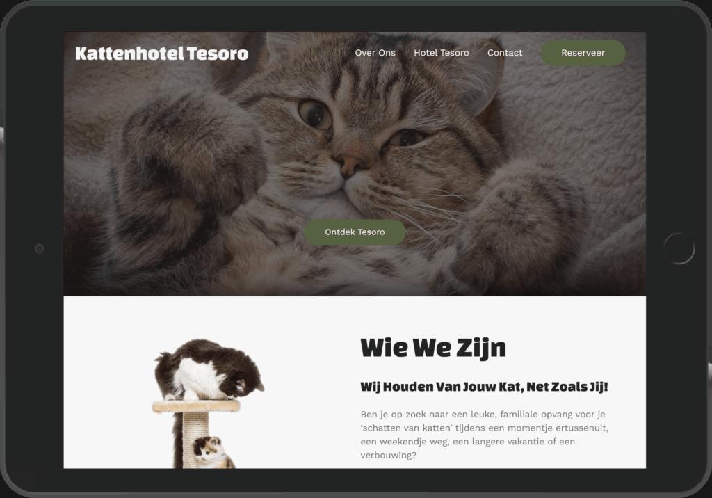 Digito-IT webdesign Limburg Kattenhotel Tesoro