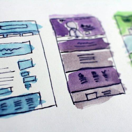 Modern websiteontwerp